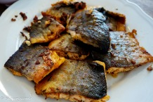 Pan fry salmon